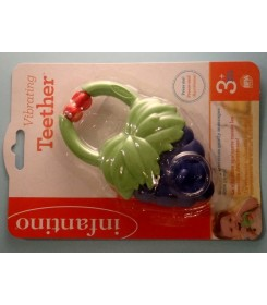 VIBRATING TEETHER - INFANTINO grape